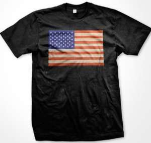American Flag Mens T shirt, USA National Pride Cool Tee