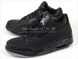 Nike Air Jordan Retro 3 Flip Black/Metallic Silver AJ III Basketball