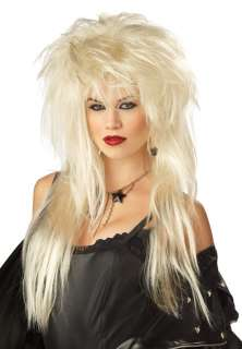 Glam Punk Rock Halloween Costume Wig (Blonde)