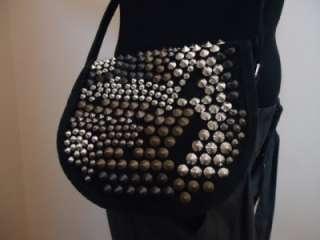 NWT $2680 BALMAIN PARIS suede studded crossbody bag