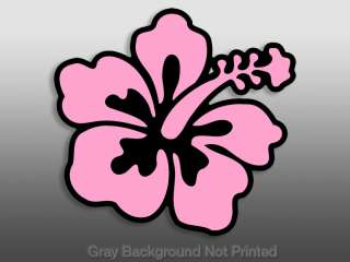 Pink Hibiscus Flower car window decal  sticker stickers