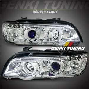 ) BMW X5 E53 Dual Halo Projector LED Euro style Chrome Housing High