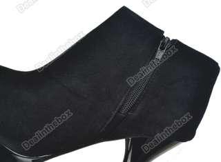 Women Vogue Platform Pumps High Heels Ankle Boots Shoes Two Colors For
