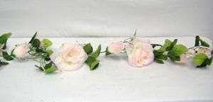 CREAM PINK Silk Roses Garland Wedding Arch Decor