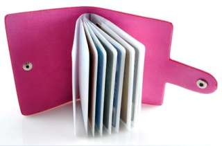 24 Pic Bank Credit Card Pocket Holder Wallet 6 Color Woman Man Bag