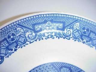 ANTIQUE WILLOW WARE BY ROYAL CHINA SOUP BOWLS SET 3