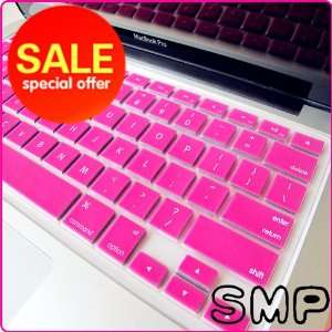® HOT PINK Keyboard Silicone Cover Skin for Macbook White / Macbook