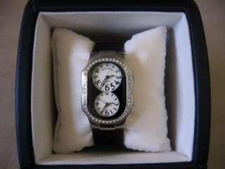 Teslar Dual Time Zone Watch w/Diamonds/3 Extra Straps & Box