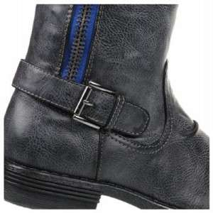 MADDEN GIRL Tall Riding Style Boots in Black and Tan
