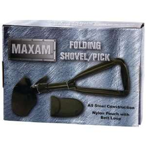 Maxam Folding Shovel/Pick Features All Steel Construction