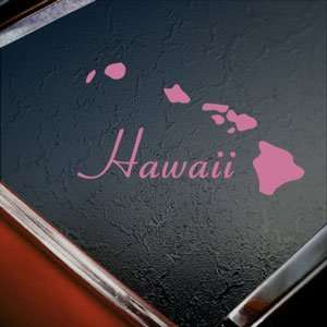 Hawaii Island Aloha Pink Decal Car Truck Window Pink