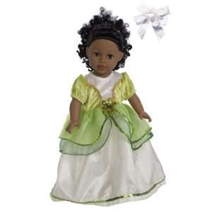 Princess 18 Doll Dress (Fits American Girl) + Free Hair Bow Toys