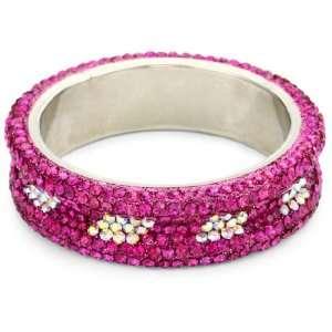 Chamak by priya kakkar Rainbow and Hot Pink Crystals Bangle Bracelet