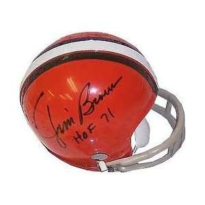 Jim Brown Autographed Cleveland Browns Throwback Riddell
