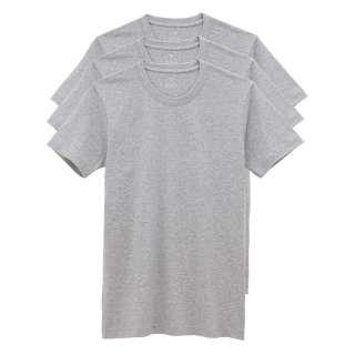 Mens NWT Undershirt Cotton Crew Neck Tee (Three Piece) Black/White