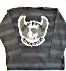 Harley Davidson Boys Rugby Shirt Apparel Tops T Shirt Long Sleeve