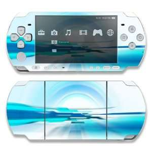 Sony PSP 1000 Decal Skin   Abstract Future World Blue