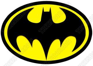 Batman Logo Yellow T  Shirt Iron On Transfer