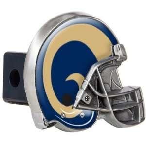 NFL St. Louis Rams Metal Helmet Trailer Hitch Cover