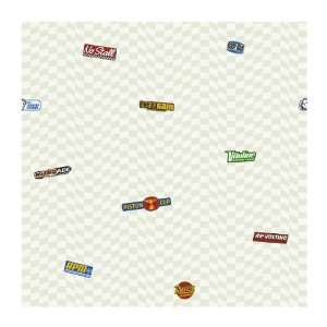 Disney Kids DK6080 Cars Logo Wallpaper, White: Home Improvement