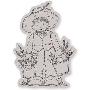 Penny Black Cling Rubber Stamp 4X5 Hoppy Day: Home