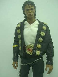 12 Hot Custom Michael Jackson   BAD Costume 1/6 Scale Action Figure