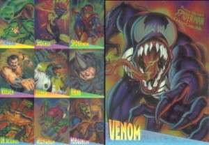 FLEER ULTRA SPIDER MAN 1995 CLEARCHROME CARD SET OF 10