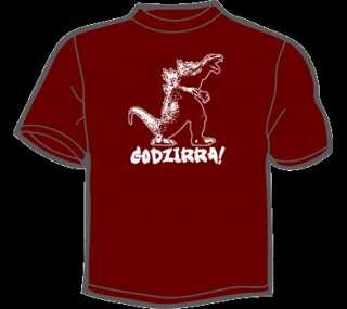 GODZIRRA T Shirt MENS funny vintage 80s retro godzilla