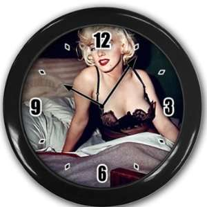 Marilyn Monroe Wall Clock Black Great Unique Gift Idea