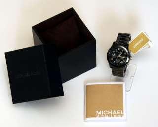 MICHAEL KORS Black Ceramic Chrono Bracelet Watch MK5162