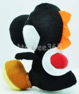 Mario Bros 7 Black YOSHI Plush Doll Figure Toy MT106