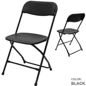 Phoenixx Plastic Folding Chair Color Black (6pcs Set