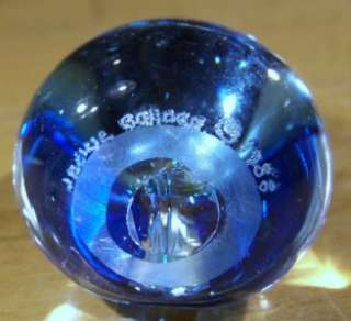 ANTIQUE ARTIST SIGNED BLUE ART GLASS PERFUME BOTTLE