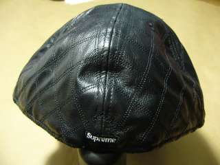 Supreme Box Logo Quilted Leather New Era Size Kermit