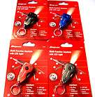 SNAP ON LED LIGHT MULTI FUNCTION TOOL KEYCHAINS KNIFE RED BLUE BLACK