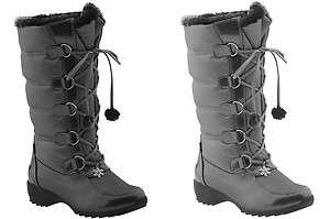 Sporto LISA Womens Waterproof Insulated Winter Snow Boot in GRAY or