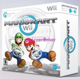 NINTENDO 1 Wii CONSOLE+FIT PLUS HD GAMES MARIO KART 2 PLAYER BUNDLE