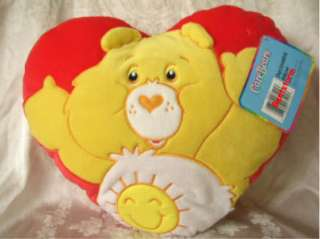 Soft Care Bears Funshine Bear throw Pillow Pal cuddle plush pillow