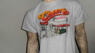 vtg 90s CHEERS SHIRT Boston Bar 80s TV show Melvilles L
