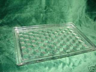 BEAUTIFUL FOSTORIA AMERICAN GLASS RECTANGULAR DRESSER TRAY