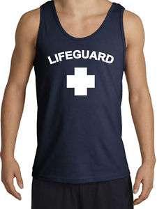 LIFEGUARD CROSS Adult Sleeveless Shirt Tanktop Tank Top