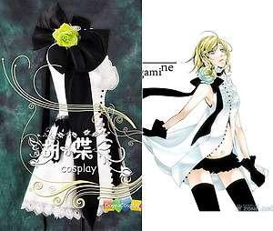 Vocaloid Rin Kagamine COSPLAY COSTUME White Dress Halloween Christmas