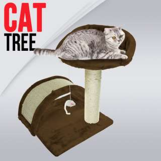 New Cat Post Tree Scratcher Furniture Play House Pet Bed Kitten Toy