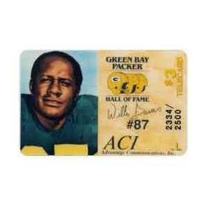 Collectible Phone Card $3. Willie Davis (Green Bay Packer