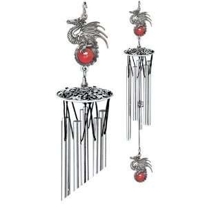 Dragon Art Glass Wind Chime 24 Patio, Lawn & Garden