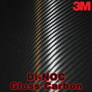3M DI NOC GLOSS Black Carbon Fiber Wrap Vinyl 24x60