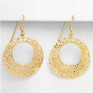 Nice Earrings Made in 14K/925 Gold plated Silver. Total item weight 5