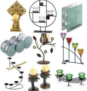 Candle Holder Home Accent Table Decor Display Stand Centerpiece