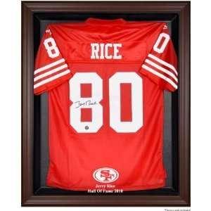 Jerry Rice San Francisco 49ers 2010 Hall of Fame Brown Framed Jersey