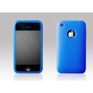 New Apple iPhone 3G / 3GS Blue Swirling Soft Silicone High